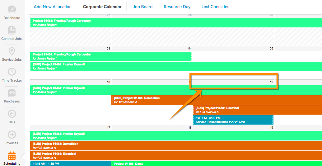 How to add a job to the corporate calendar – Knowify